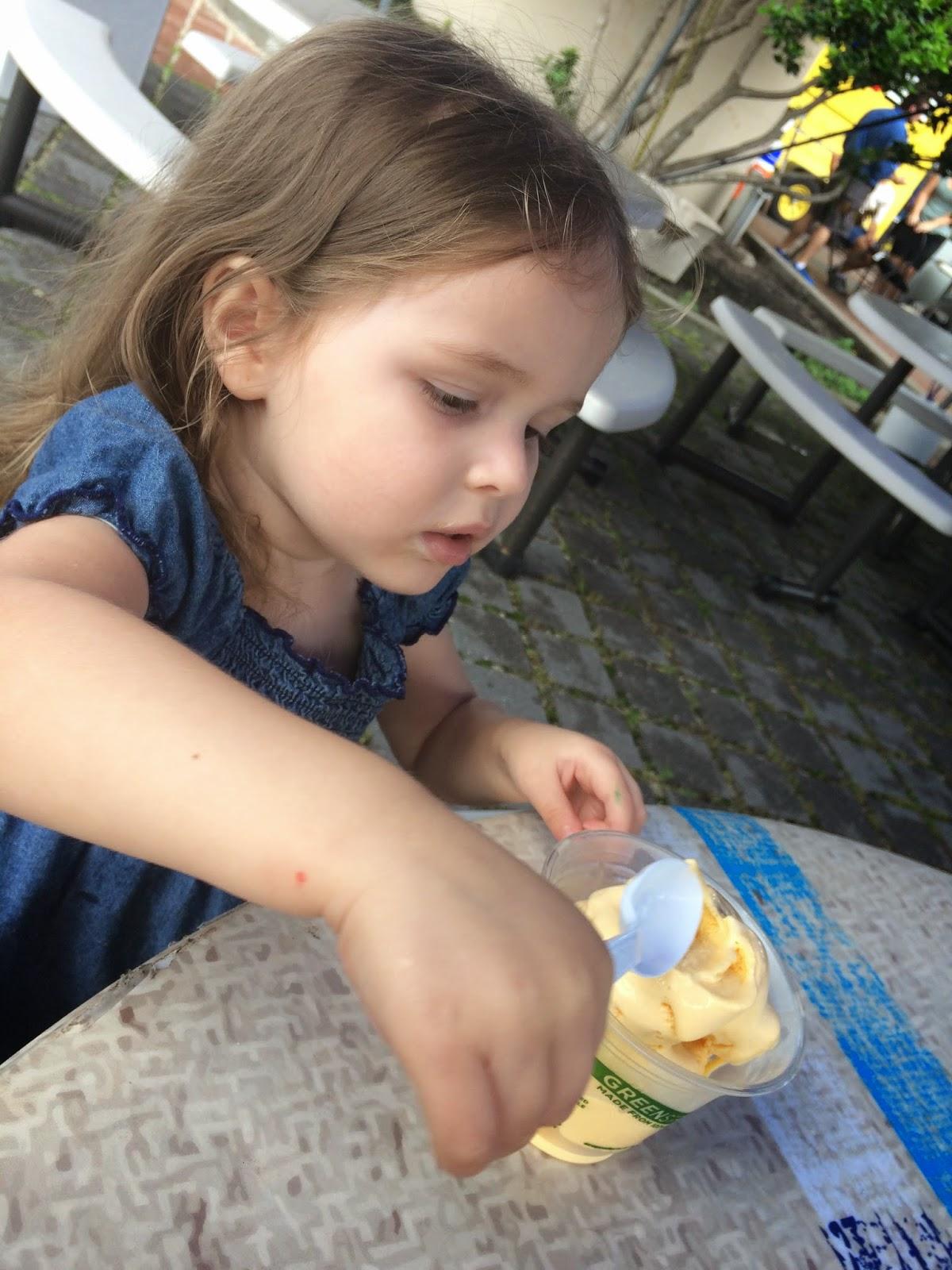 enjoying locally made ice cream at RAM #jaxblogger #flblogger