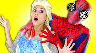 Spiderman Frozen Elsa Marvel Superhero Real Life is it good to watch
