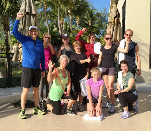 The beach boot campers who took care of their beach workout this past Saturday