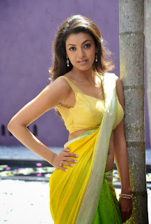 Tollywood actress kajal agarwal saree photos