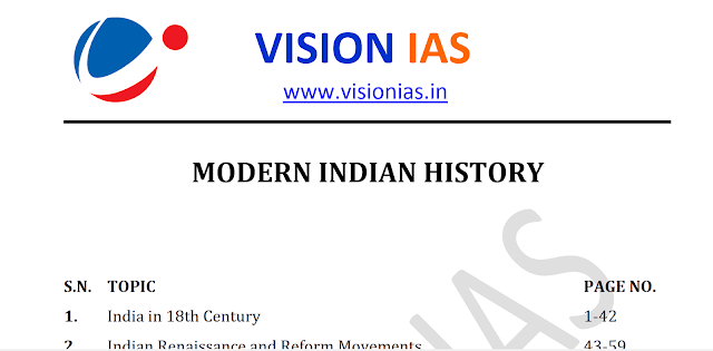 Vision IAS Modern History Notes