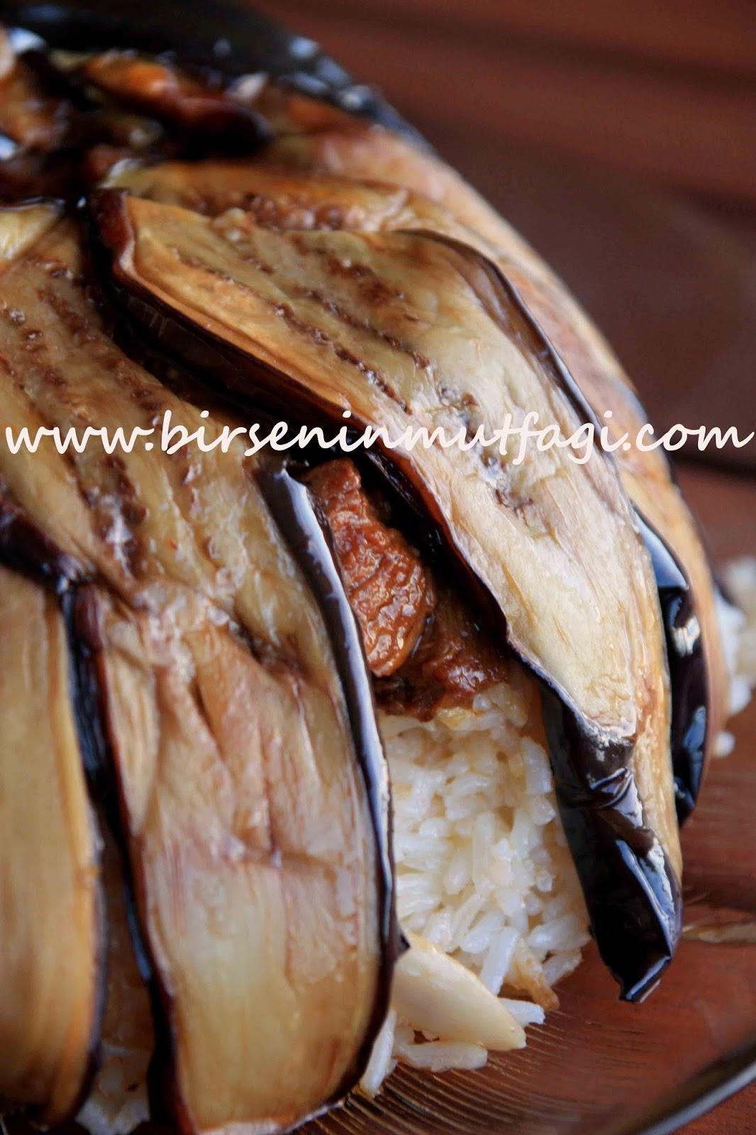 Patlıcanlı Bademli Pilav