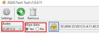 Cara Mudah Flashing Asus Zenfone c lewat Asus Flashtool 100% Ampuh