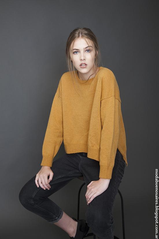 Moda invierno 2016 ropa de mujer. Moda 2016 Bled sweaters.