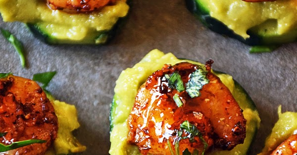 Cucumber Bites with Creole Shrimp and Guacamole #SundaySupper | Life ...