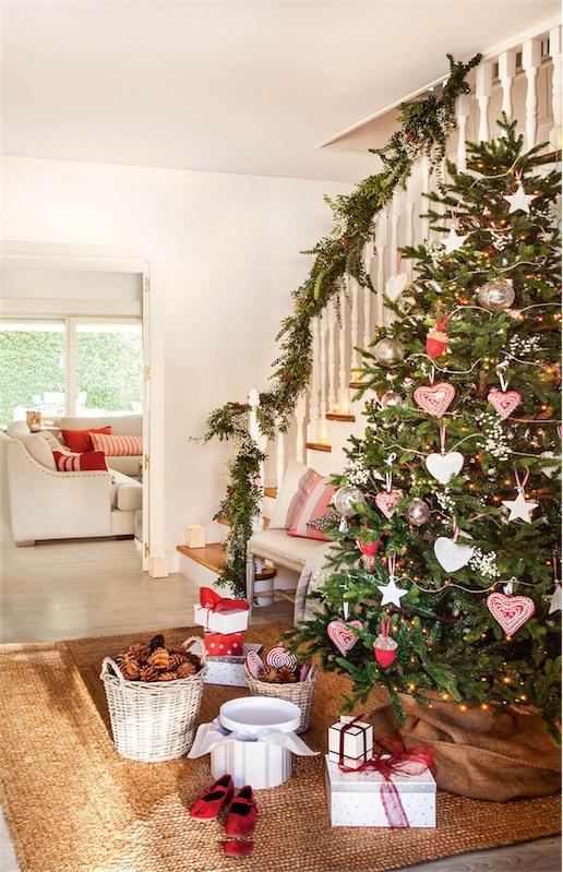 ideas para decorar el recibidor de navidad chicanddeco