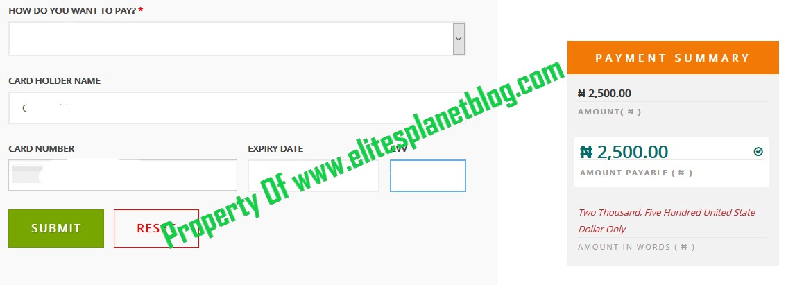 JAMB Change of Course/Institution Correction Remitta Payment Gateway