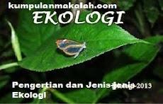 Pengertian dan Jenis-jenis Ekologi