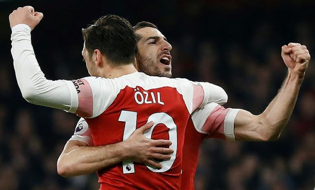 Ozil masterminds Arsenal's bashing of AFC Bournemouth