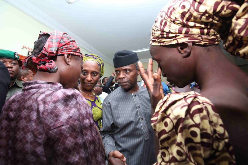 Osinbajo: FG didn't swap 21 Chibok girls, only 1 is a nursing mother