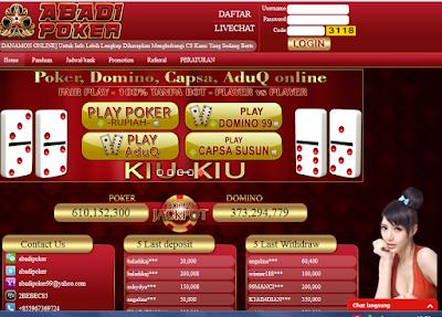 Situs Agen Domino Capsa Dan Aduq Online Terpercaya Indonesia