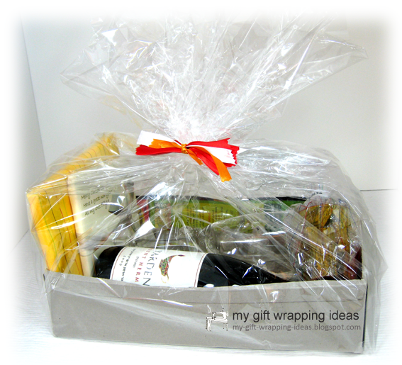 My Gift Wring Ideas How To Make A Wine Basket From Egg Tray