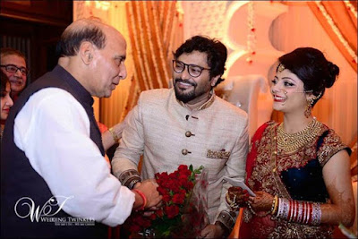 Rajnath-singh-in-babul-supriyo-reception