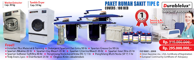 PROMO-PAKET-RS-C3 Menyediakan Kredit Usaha Laundry Hotel dan Laundry Rumah Sakit