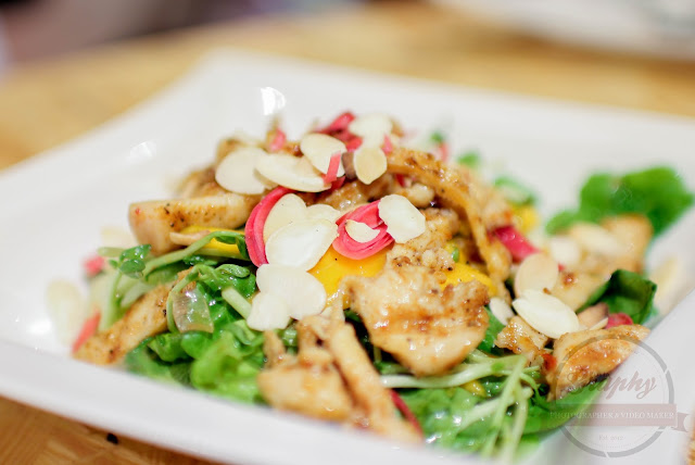 Menu Salad Owlery Cafe - Asian Smoked Chicken with Mango Salad