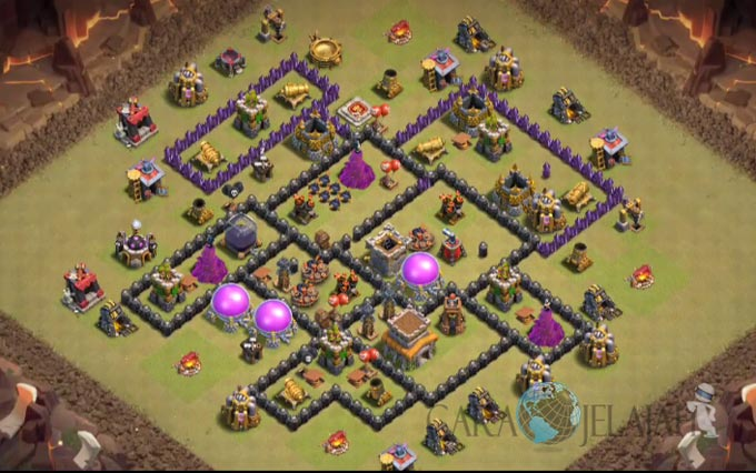 Base War TH 8 di Clash Of Clans Terbaru 2017 Tipe 24
