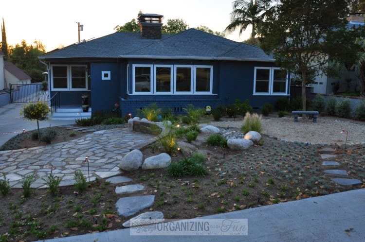 Front Yard Makeover - drought tolerant and functional :: OrganzingMadeFun.com
