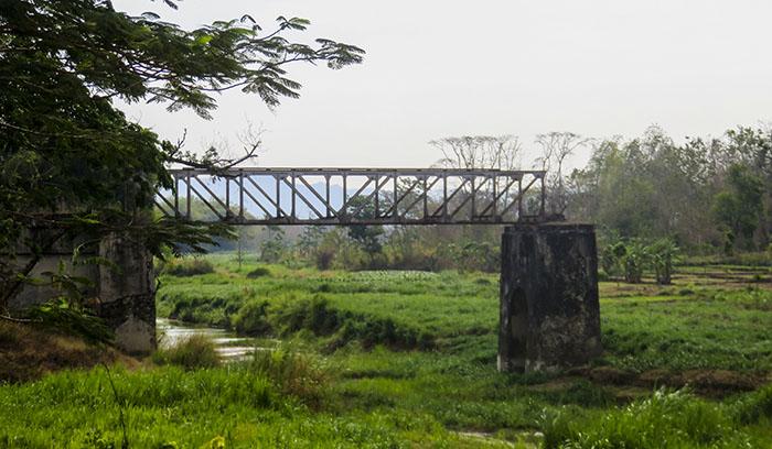 Bekas Jembatan Kereta Api Sebelum Masuk Baturetno