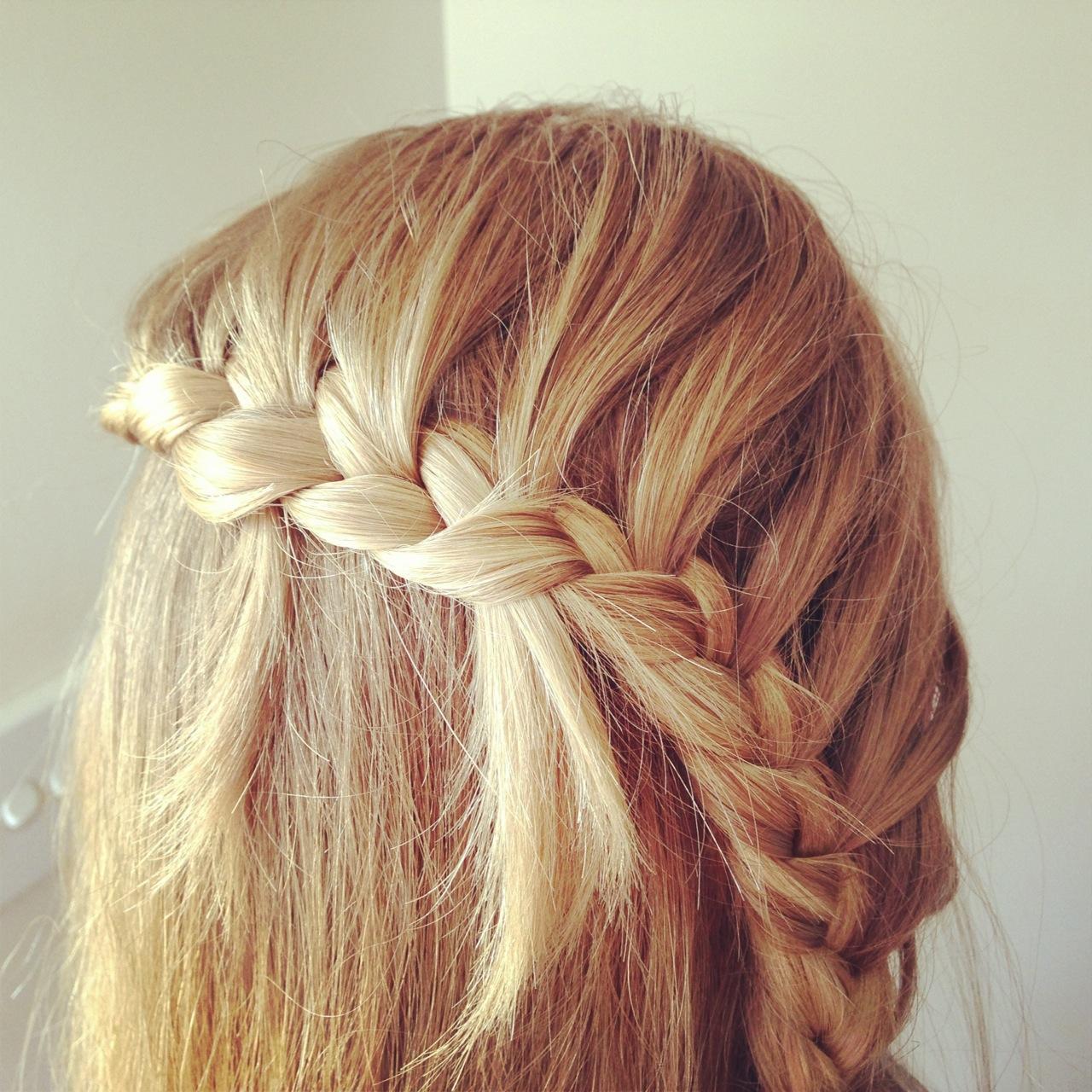 Waterfall Braid Hairstyles: Posie Blogs: My Creative Space . . . 'romancing The Hair