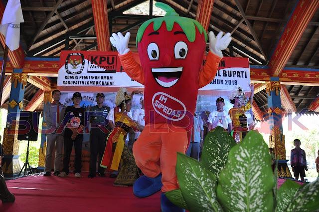 Tahapan Pemilihan Bupati Dan Wakil Bupati Lombok Barat 2018 Resmi Diluncurkan