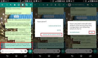 Cara Cepat Menghapus Pesan Terkirim di Whatsapp Dengan Mudah