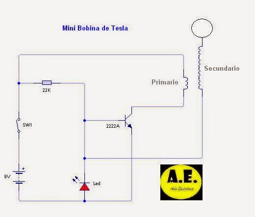 Circuito Bobina De Tesla : Asín electrónica bobinas de tesla