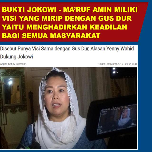 Disebut Punya Visi Sama dengan Gus Dur, Alasan Yenny Wahid Dukung Jokowi