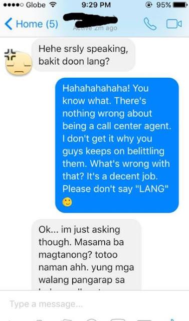 """""""Yung Mga Taong Walang Pangarap Sa Buhay Call Center Ang Bagsak"""": Aspiring Call Center Agent Was Judged By Ex-Friend and Claps Back With the Perfect Response"""