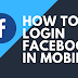 Facebook iPhone Login