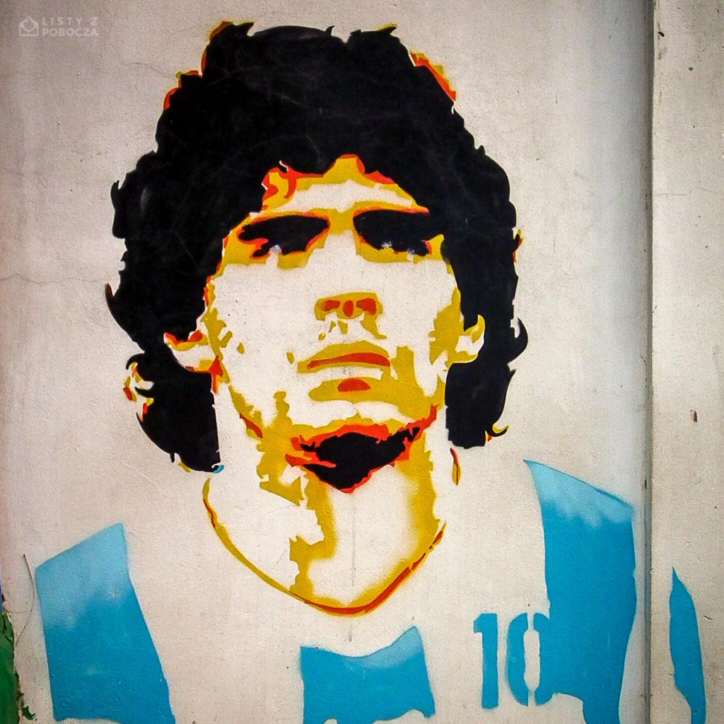 Mural z wizerunkiem Diego Maradony w Buenos Aires