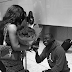 Tonto Dikeh's former boyfriend, Malivelihood engages his girlfriend at hearthrow airport in UK