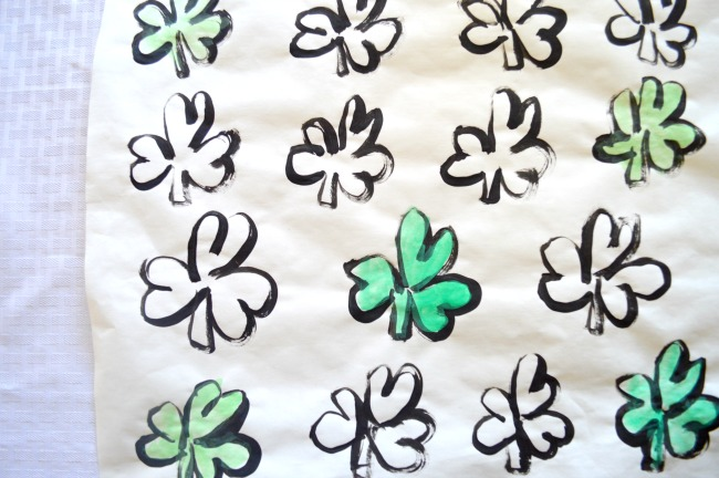DIY St. Patrick's Day shamrock placemat
