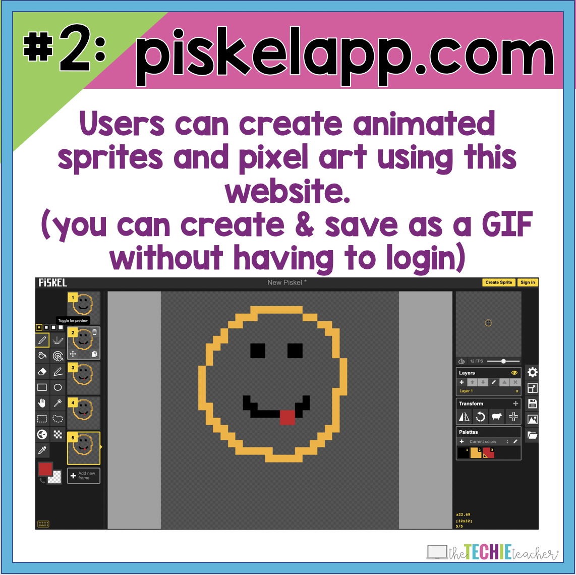 My Favorite 10 Apps & Websites for Creating Animated GIFs for the Classroom. Teachers and students can create animations, videos, images and more that can be turned into animated GIFs for their class projects.