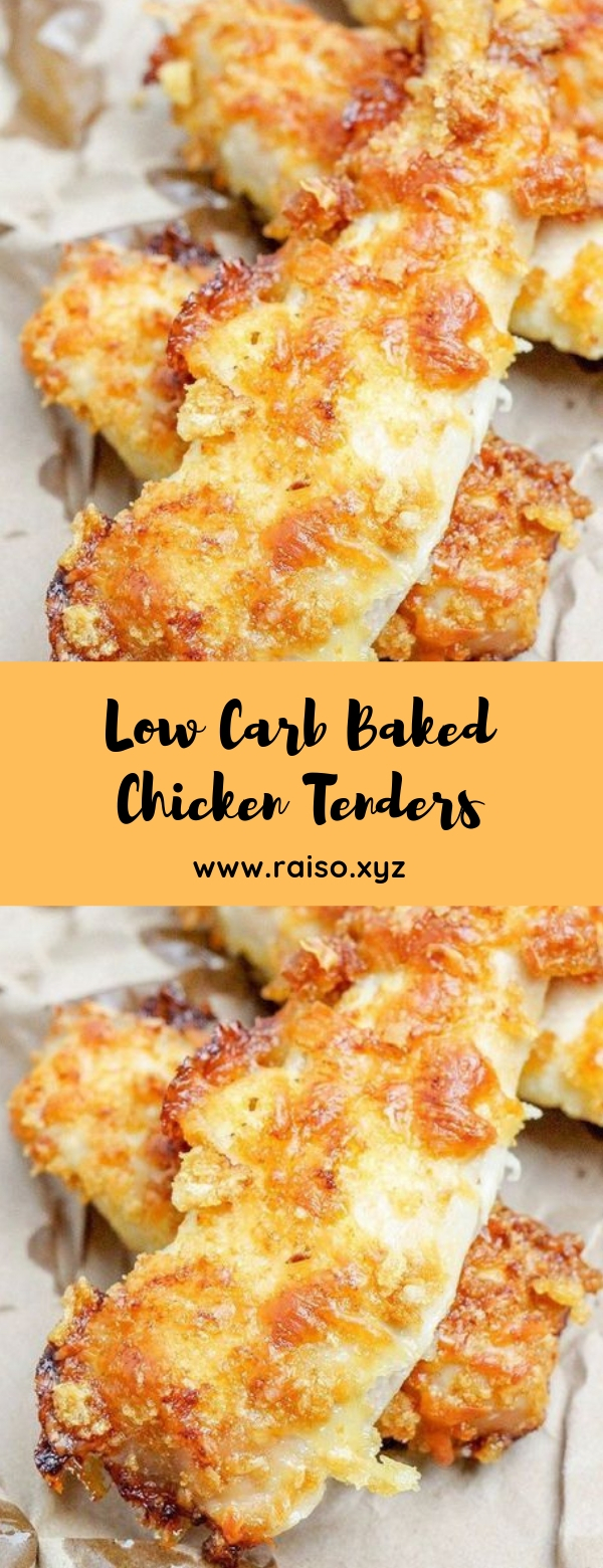 Low Carb Baked Chicken Tenders #ketodiets #lowcarb #lunch #maincourse
