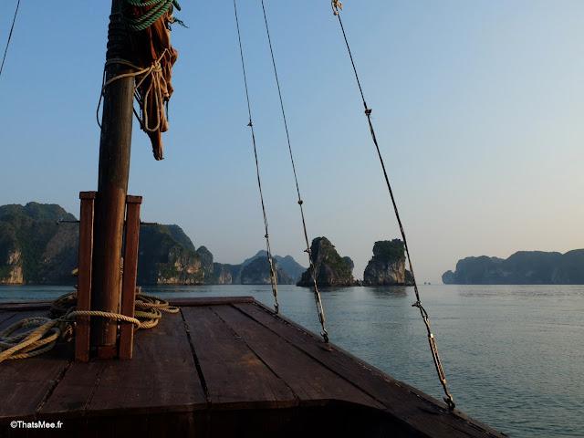 baie halong voyage vietnam tour bateau par cat ba, mer montagne paysage vietnam
