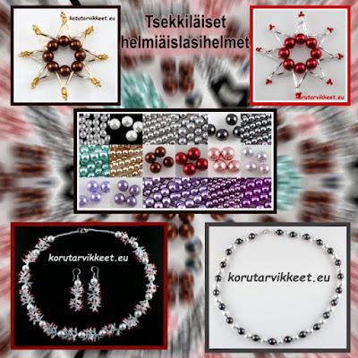Tsekkiläiset helmiäislasihelmet - korutarvikkeet - helmikauppa netissä