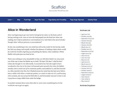 Scaffold WordPress Theme