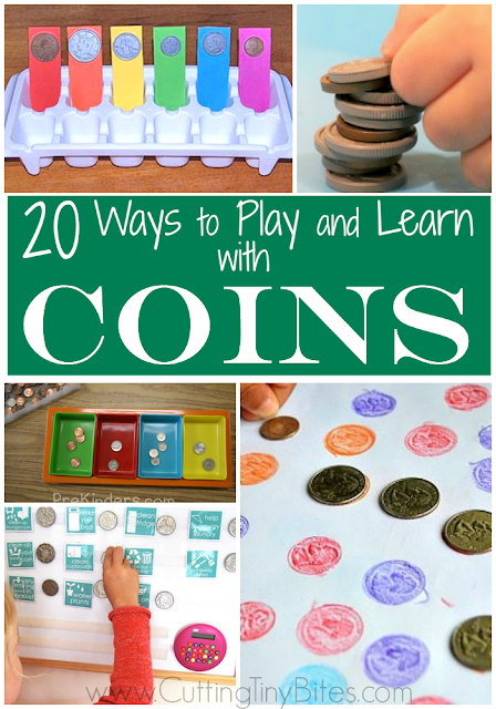 20 Easy Math Activities Using Coins for Preschoolers and Kindergartners