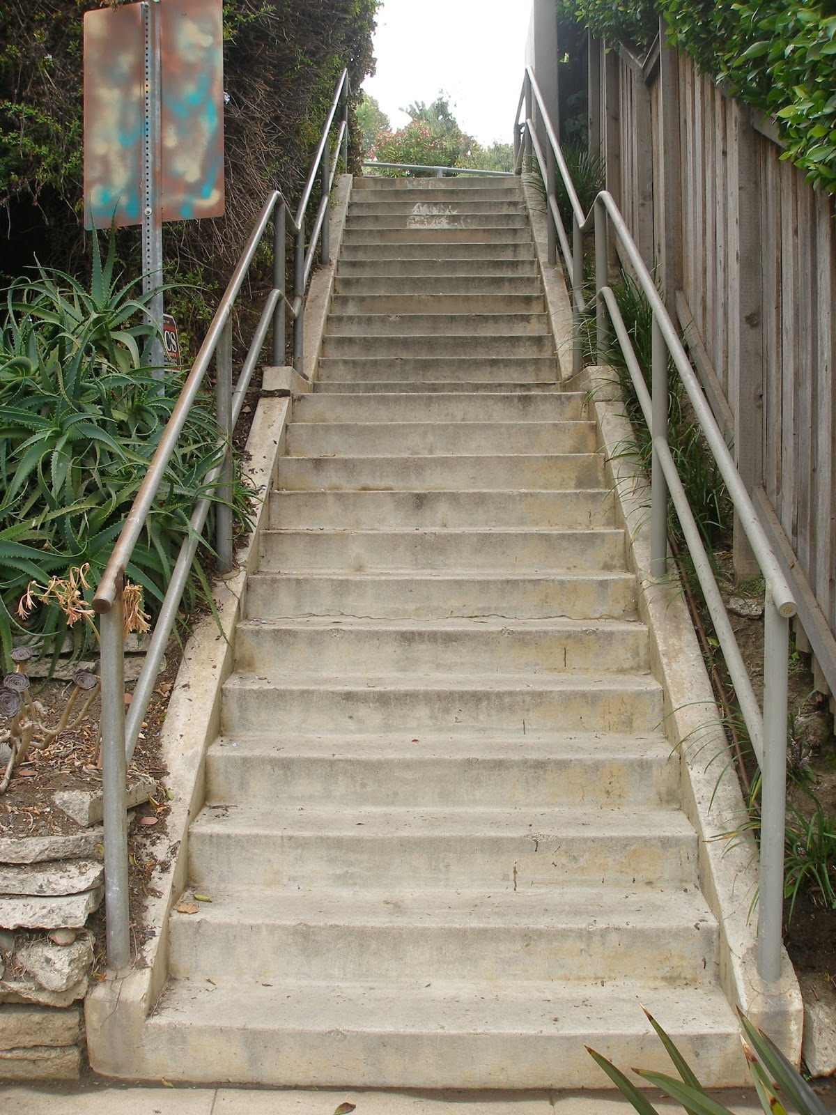 Sage Lane To Mesa Rd.  This Staircase Also Leads To A Staircase That Goes  To. Amalfi Dr.