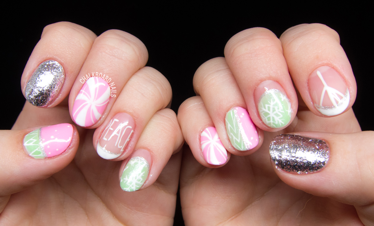 Marshmallow Winter nails by @chalkboardnails
