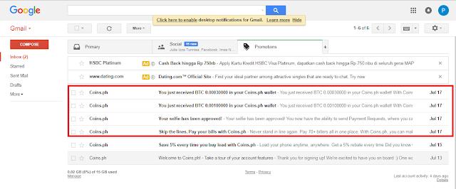 Bukti Email Full Approved dari App.coins.id