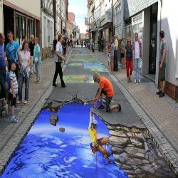 A impressionante arte de rua 3D de Nikolaj Arndt