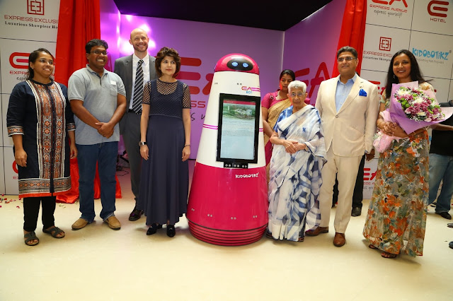 "Express Avenue : ""EA BOT"" - First Ever Robot in any Indian Mall"