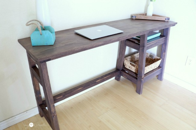 Build a DIY A-Frame Desk with the free building plans and picture tutorial at MyLove2Create