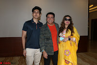 Govinda with wife Sunita Ahuja and Son Yashvardan Ahuja at Screening Of her new movie Aa a Hero 4.JPG
