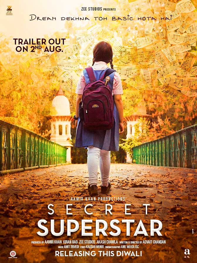 Aamir Khan Revealed The Teaser Poster of Secret Superstar