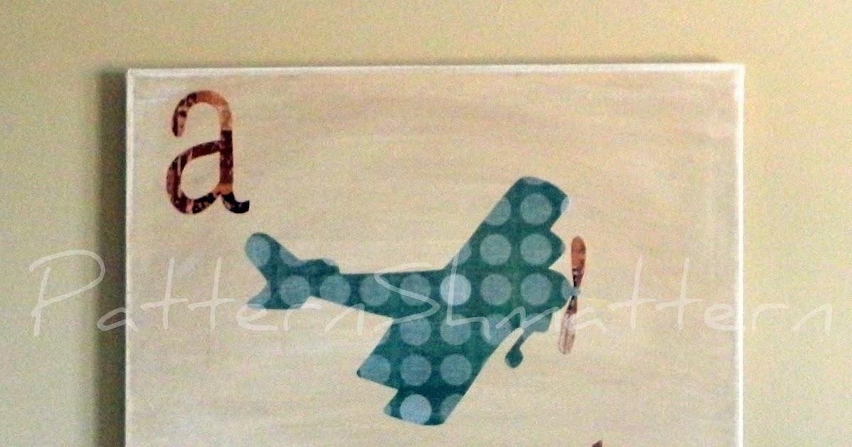Pattern Shmattern Pottery Barn Airplane Wall Art