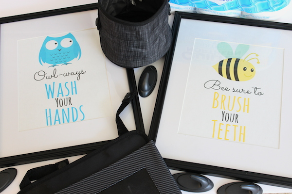 Free Printable Bathroom Art for Kids (and Organizing Tips too