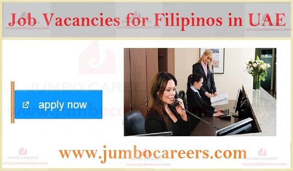 Dubai jobs for Filipinos, Latest Job openings in Dubai with salary,