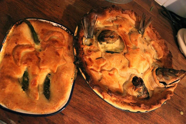 stargazy pie, The underground restaurant